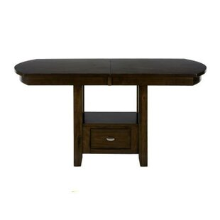 Aalin Wooden Counter Height Dining Table Winston Porter