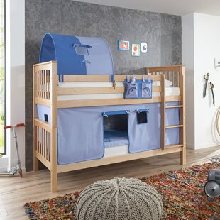 Price Sale Florus European Single Bunk Bed With Curtain, Tunnel And Pocket