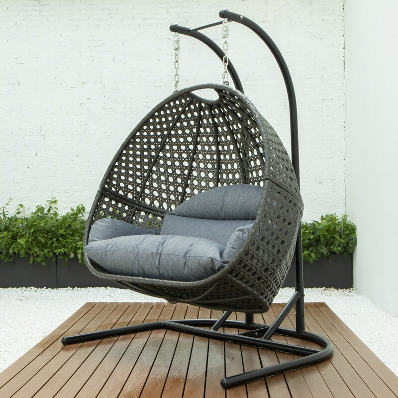 Freeport Park® Ehrhardt Luxury Double Swing Chair with ...