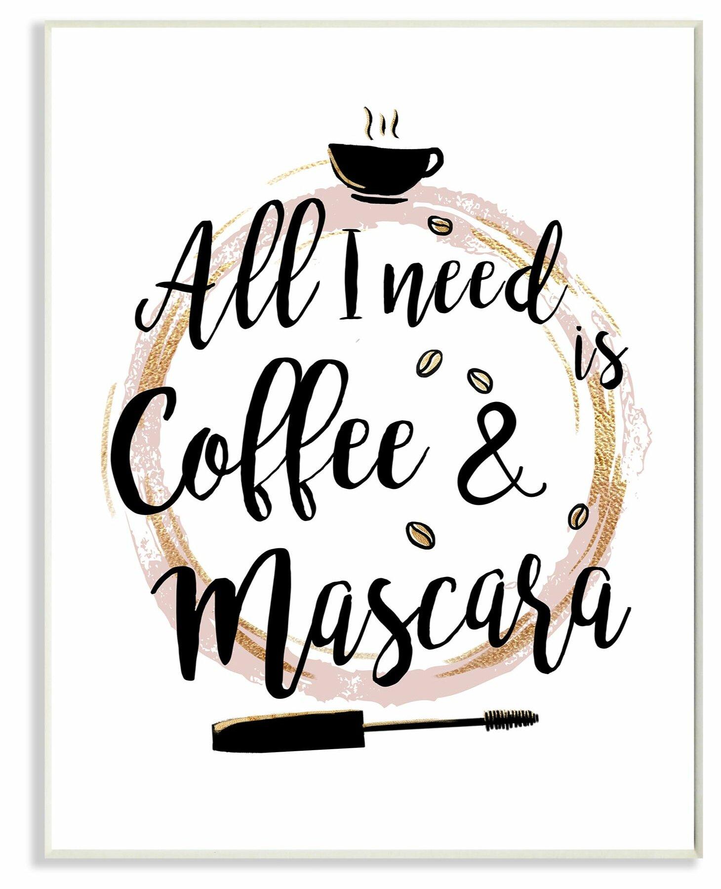 Mercer41 Coffee And Mascara Fashion Designer Pink Gold Word Design Textual Art Wayfair