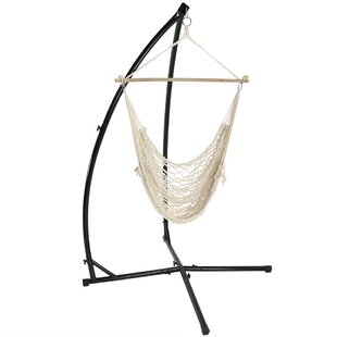 Caudle Cotton Chair Hammock with Stand
