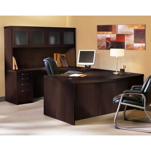 Affordable Aberdeen Series U-Shape Executive Desk with Hutch By Mayline Group