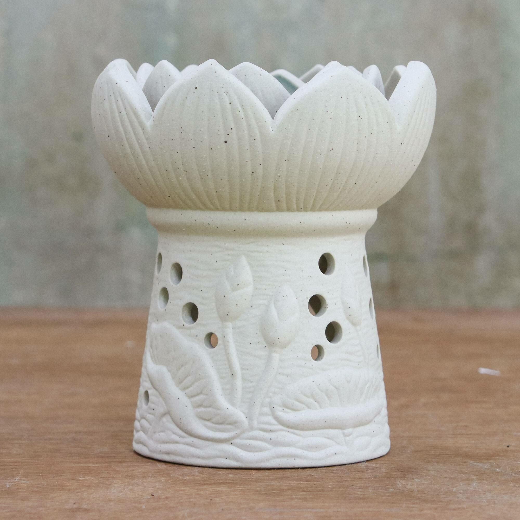 World Menagerie Fragrant Lotus Oil Ceramic Tealight Holder Wayfair