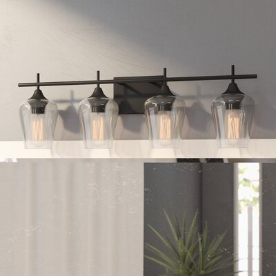 Mercury Row Hickerson 4-Light Vanity Light Finish: English Bronze