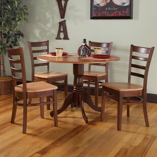 Chicopee 5 Piece Solid Wood Dining Set by..
