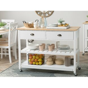 Sansom Kitchen Cart Canora Grey