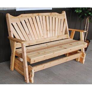 A&L Furniture Fanback Glider Bench