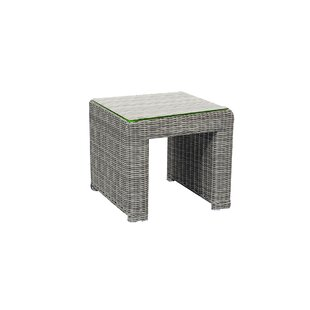 Searle Wicker Side Table by Ivy Bronx Modern