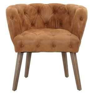 Patina Jasper Genuine Leather Upholstered Dining Chair by Orient Express Furniture