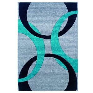 Grey/Turquoise Area Rug
