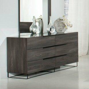 Brayden Studio Daughtery 6 Drawer Standard Dresser/Chest