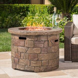 17 Stories Leopold Stone Propane Fire Pit Table