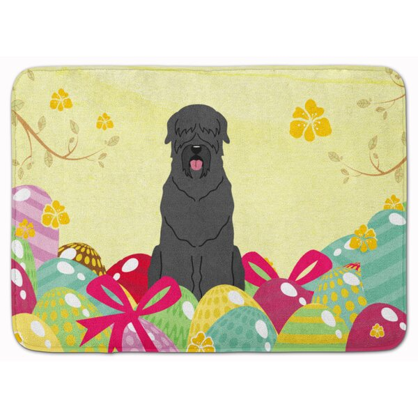 The Holiday Aisle Easter Eggs Black Russian Terrier Memory Foam Bath Rug Wayfair