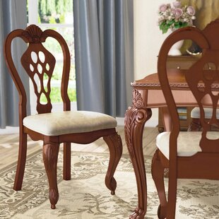 Buchholz Solid Wood Dining Chair (Set of 2) Astoria Grand