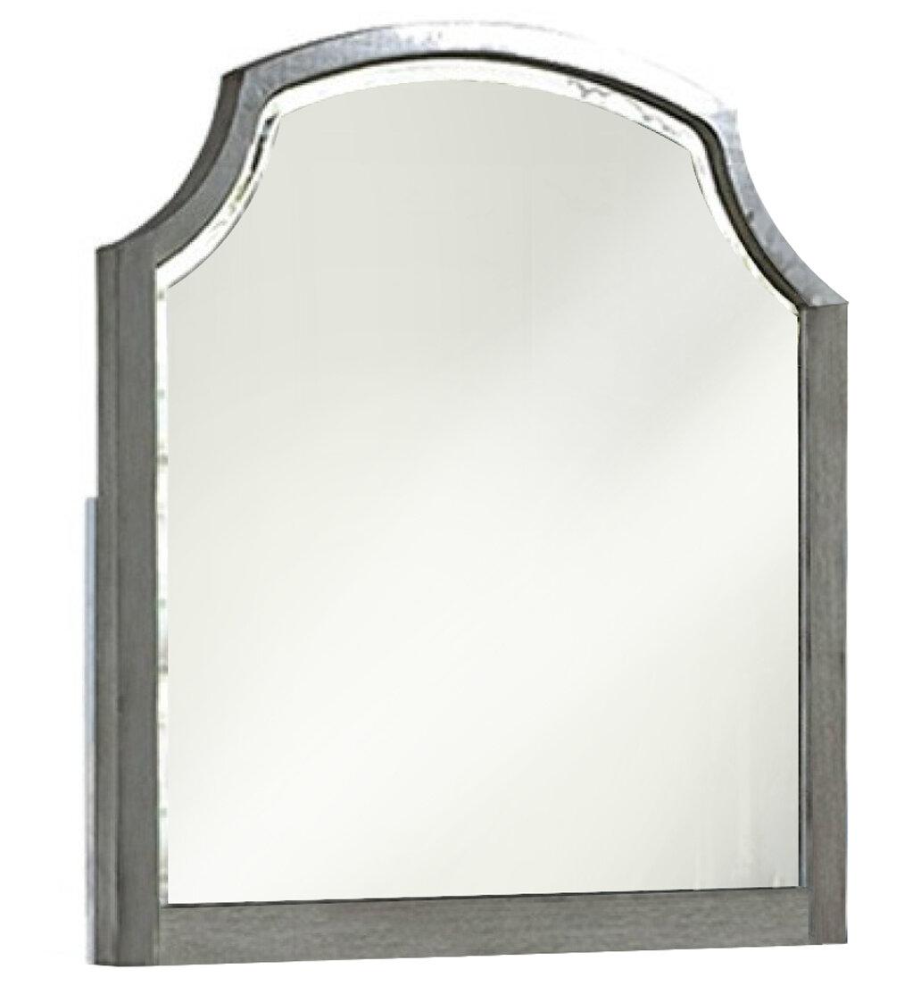 One Allium Way Gaskill Wooden Frame Dresser Mirror Wayfair