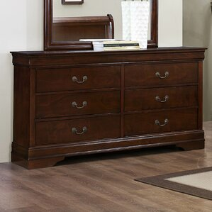 Mayville 6 Drawer Double Dresser by Woodhaven Hill