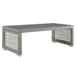 Highland Dunes Cassiopeia Rattan Outdoor Coffee Table