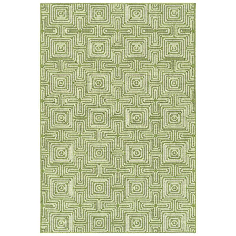 Earp Lime Green Indoor Outdoor Area Rug