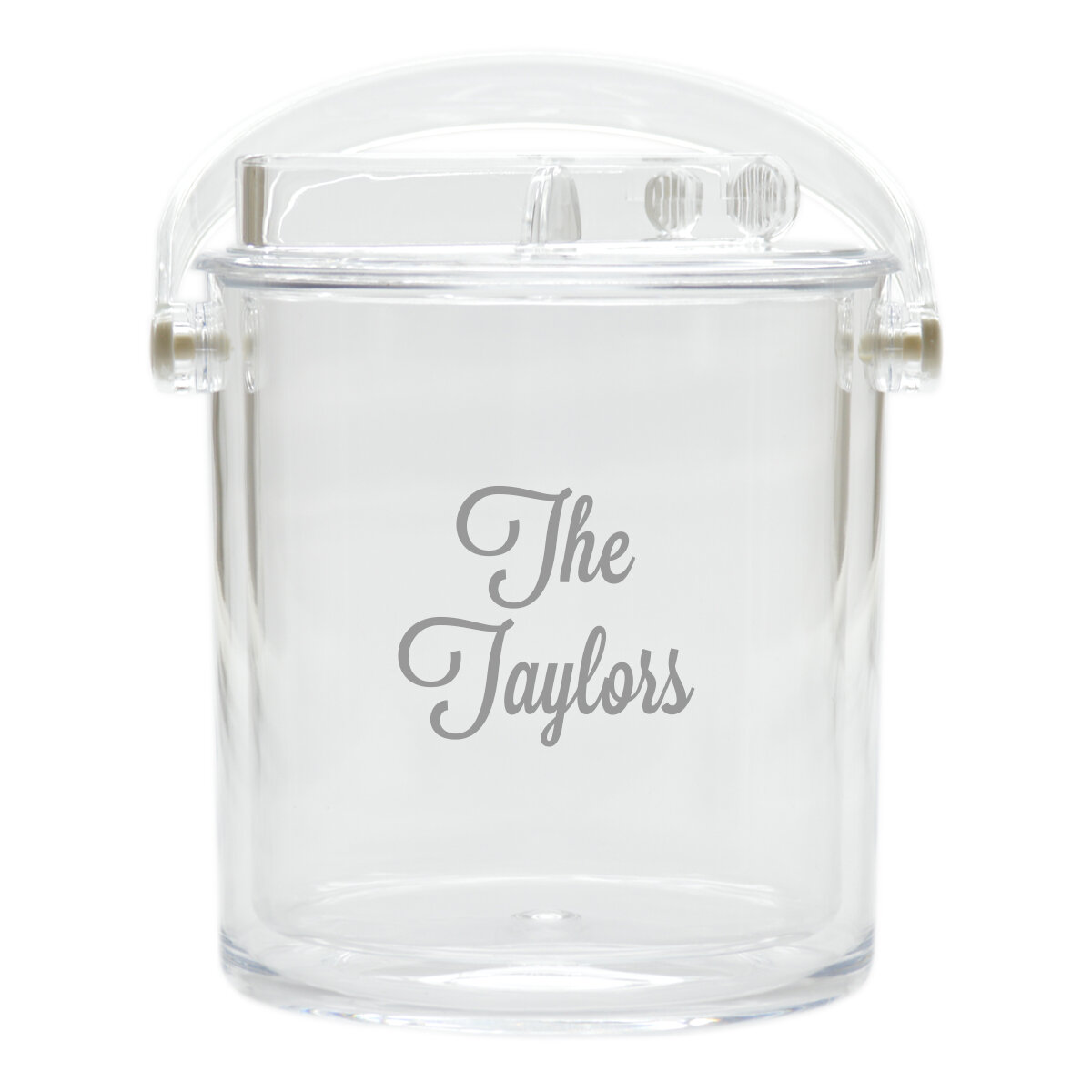 Carved Solutions Personalized Insulated Acrylic Ice Bucket With Tongs Reviews Wayfair