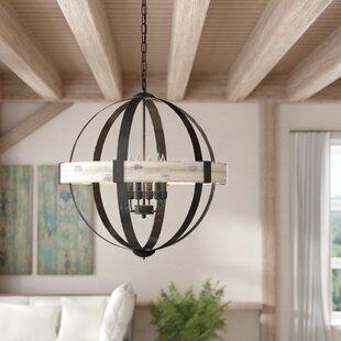 Gracie Oaks Manelle 6-Light Globe Chandelier