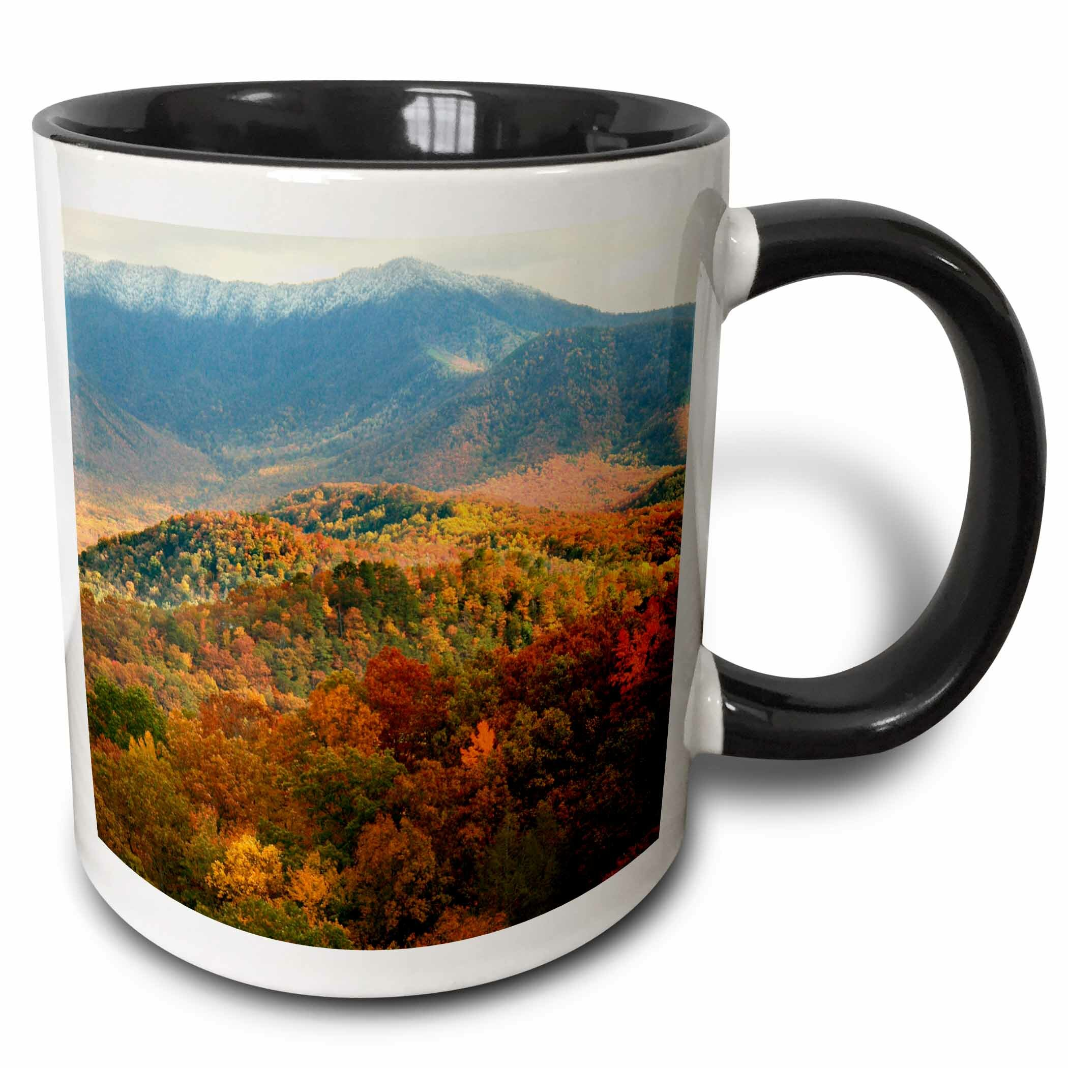 Ebern Designs Blix Mount Leconte Above Fall Foliage In The Valleys Coffee Mug Wayfair
