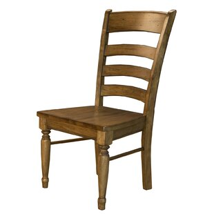 Ian Solid Wood Dining Chair (Set of 2) by One Allium Way
