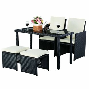 Adamina 2 Seater Rattan Conversation Set (Set Of 5) By Sol 72 Outdoor