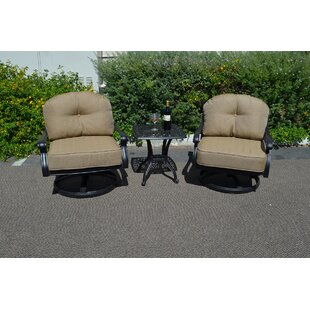 Elizabeth 3 Piece Conversation Set With Cushions by K&B Patio Best #1
