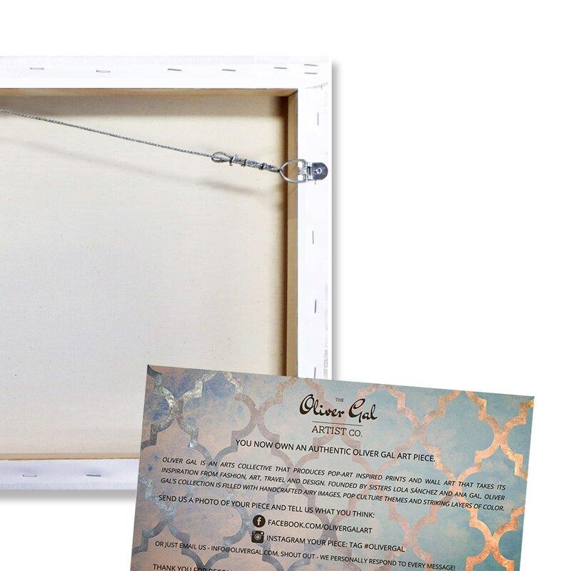 Art Remedy Abstract Rocasola Soft Blue Graphic Art Print On Canvas Wayfair