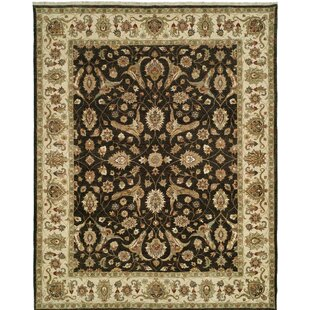 Compare & Buy Royal Zeigler Hand-Knotted Beige/Black Area Rug By Shalom Brothers
