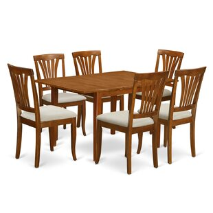 Lorelai 7 Piece Dining Set by Alcott Hill Amazing