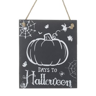 Days To Halloween Chalkboard By The Seasonal Aisle