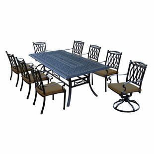 Oakland Living Morocco Aluminum 9 Piece Dining Set with Cushions