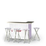 Allo Valentines Simple Love 5-Piece Bar Set