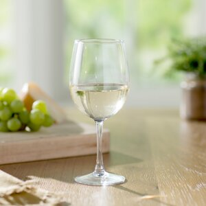 Wayfair Basics 19 oz. White Wine Glass Set (Set of 4)