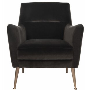 Louvenia Velvet Armchair by Everly Quinn