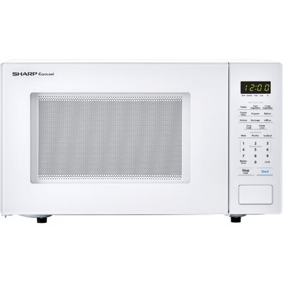"""Sharp Carousel 20"""" 1.1 cu.ft. Countertop Microwave  Color: White"""