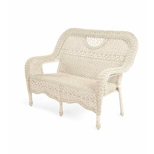 Prospect Hill Wicker Settee by Plow & Hearth