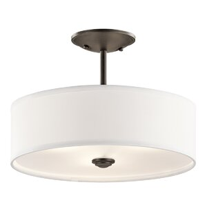 Hopedale 1-Light Semi Flush Mount