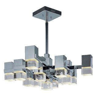 Orpheus 13-Light Geometric Chandelier by Orren Ellis
