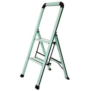 Slim 2 Step Aluminum Step Stool with 250 lb. Load Capacity