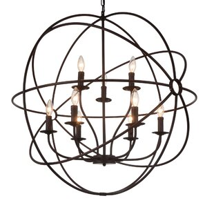 Gracie Oaks Margo 9-Light Candle-Style Chandelier