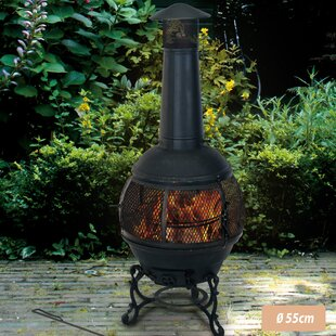 Onasander Steel Charcoal Outdoor Fireplace By Sol 72 Outdoor