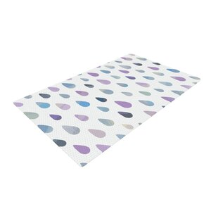 Daisy Beatrice Opal Drops Mist Purple/White Area Rug
