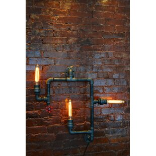 industrial pipe lighting. Steampunk 3-Light Industrial Pipe Wall Light Lighting