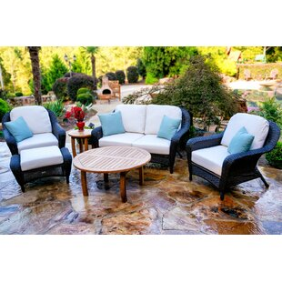 Fleischmann 6 Piece Sunbrella Sofa Set with Cushions