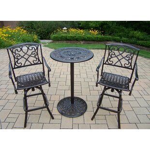 Ericka 3 Piece Bar Height Dining Set by Fleur De Lis Living Looking for