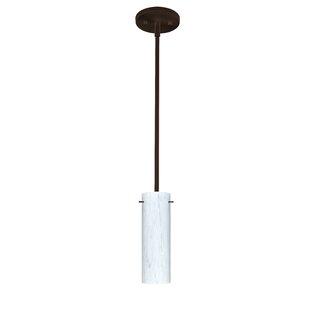 Copa 1-Light Cylinder Pendant by Besa Lighting