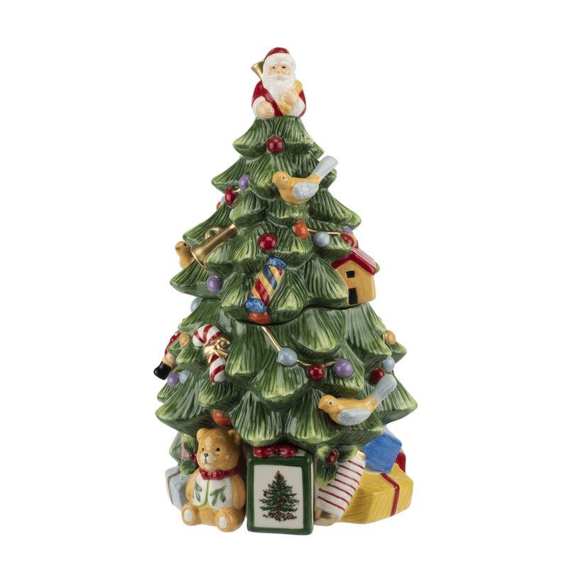 Qt On Christmas Day 2021 Spode Christmas Tree 16 Qt Cookie Jar Reviews Wayfair