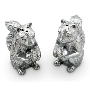 Forest Squirrel 2 Piece Salt And Pepper Set by Arthur Court Designs